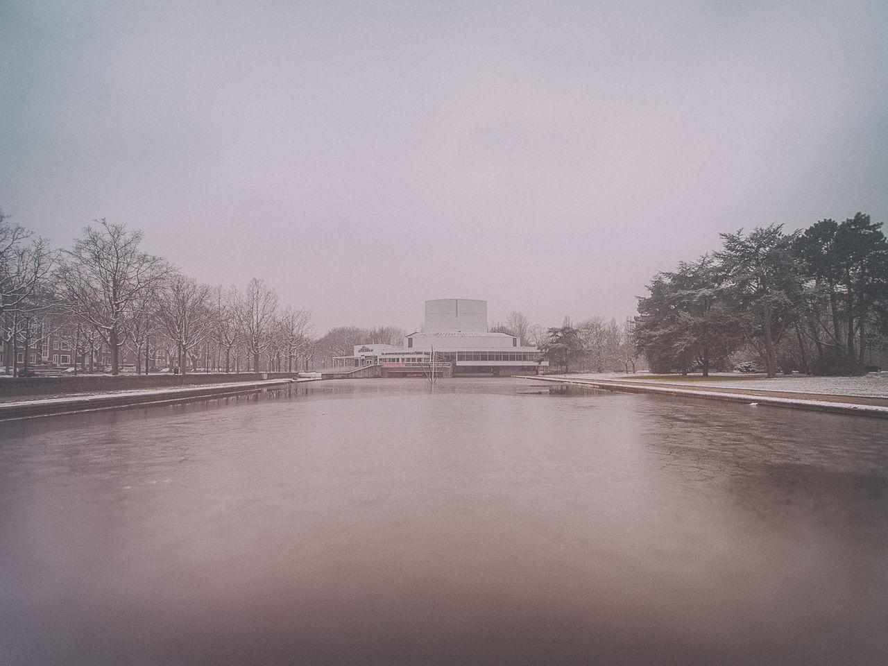 Cold Cold Temperature Faded Ice Lake Park Raw Rijswijk Snow Theatre