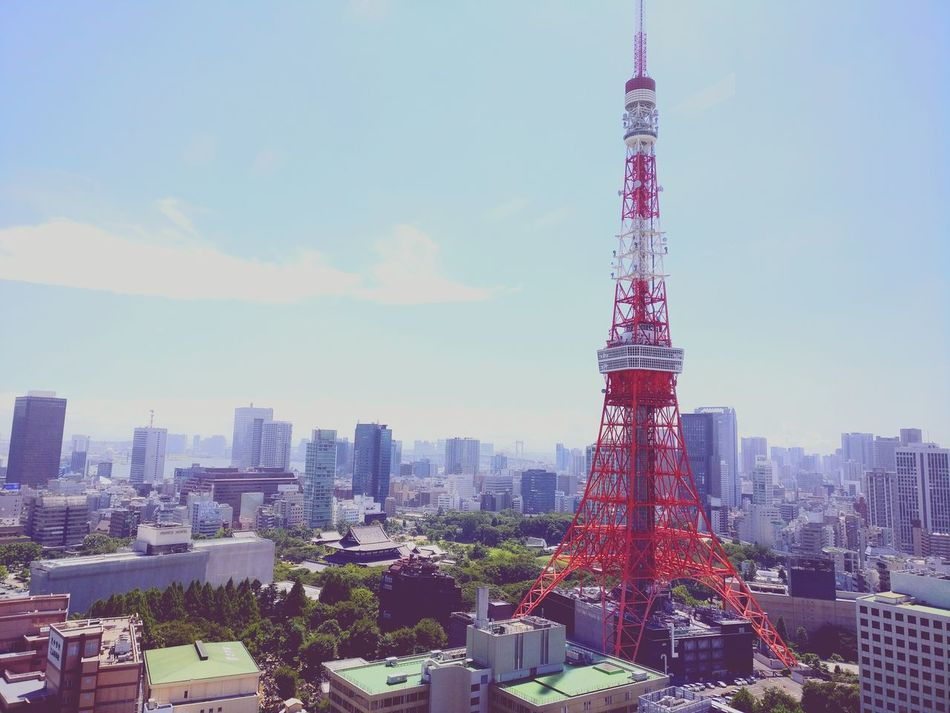 Tokyo tower Skyscraper Urban Skyline Tower Tall - High Architecture Travel Destinations Building Exterior Japan Photos Famous Building No People City Sky Cityscape Business Finance And Industry Social Issues Cloud - Sky Technology Outdoors Modern Downtown District Day