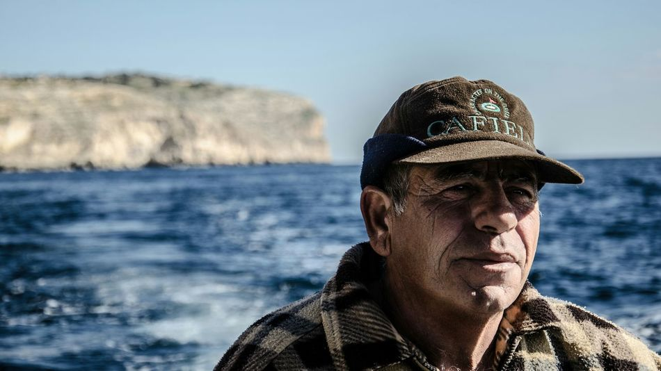 Malta Blue Grotto Portrait Sea Old Man Depth Of Field Boats The Human Condition The Portraitist - 2015 EyeEm Awards