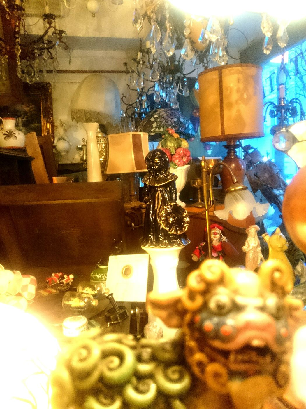 Golden Shop of Things . All Shiny and Colorful Indoors  No People Statues Scenerie Store Antique Shop
