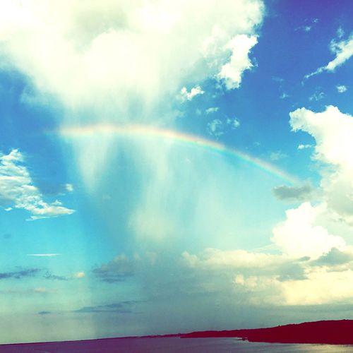Nature Rainbow Sky And Clouds Kyria Bird