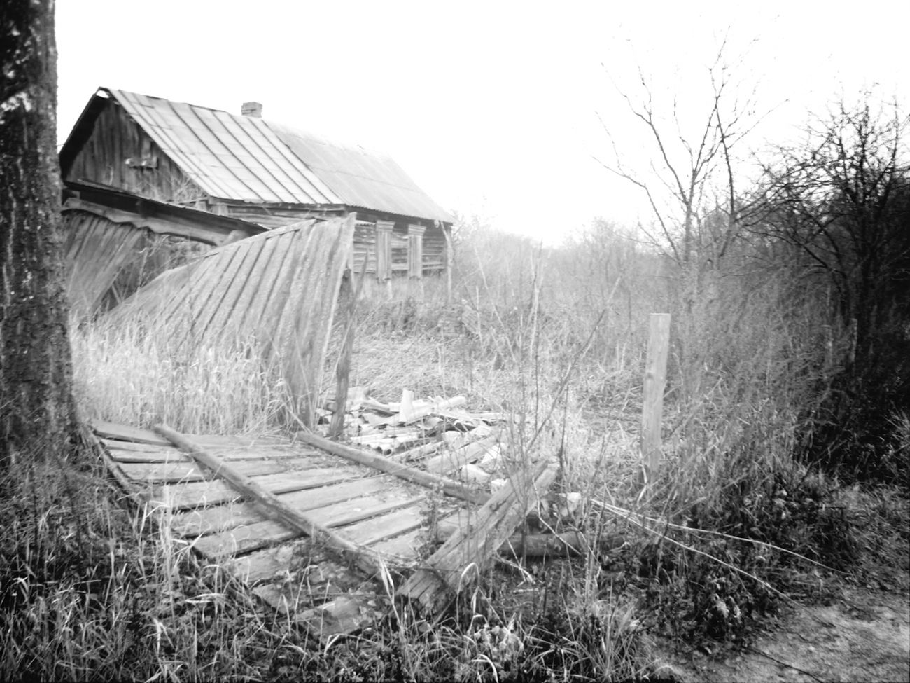 Вглубинке деревня пустота осень