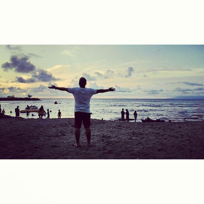 Anak pantai Anyer  Sunset Siluet