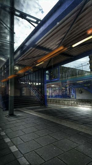 Geometric Shapes at Railwaystation Groningen. Reflections in the Early Morning