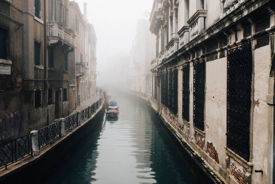 Architecture Building Exterior Built Structure Canal City Colors Day Early Gondola - Traditional Boat Italy Lagoon Men Mist Mode Of Transport Mood Morning Nautical Vessel One Person Outdoors People Romance Sad Transportation Water Waterfront