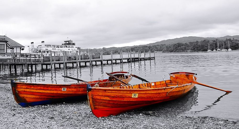 Two Is Better Than One Ambleside Ambleside Boat Pier Colour And Black Trip London Trip