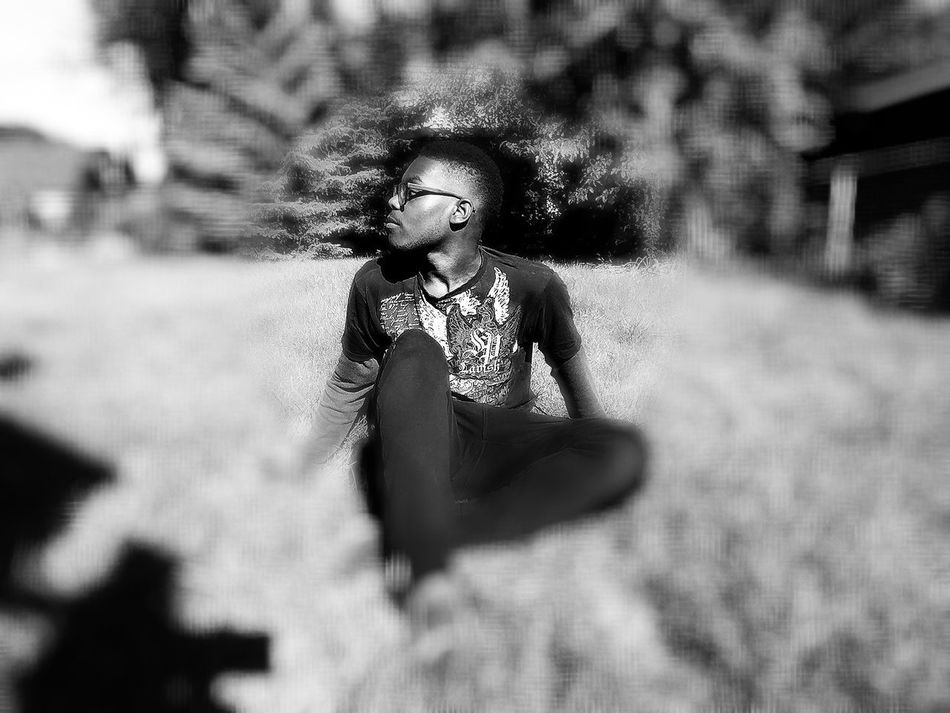 One Person Young Adult Thoughts And Musings African American Black And White Darkness And Light Darkart Dark Photography Perspective Blurred Blurred Background