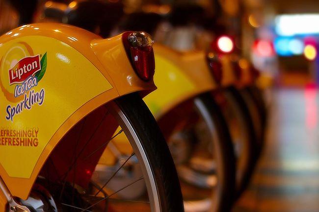 Brisbane Close-up Night View Bicycle City Cycle Orange