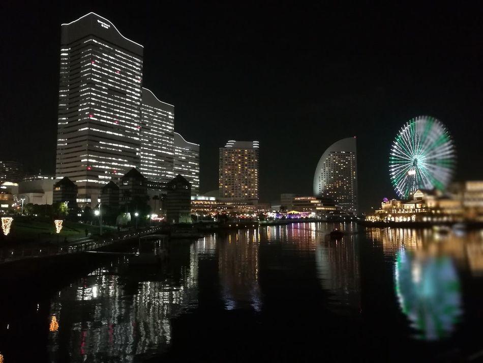 Sakuragichyo, yokohama,japan Reflection Night