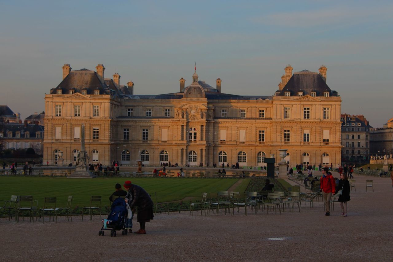 Architecture Building Exterior Built Structure City Day Government Jardin Du Luxembourg Outdoors Palais Du Luxembourg Paris People Sky Sénat