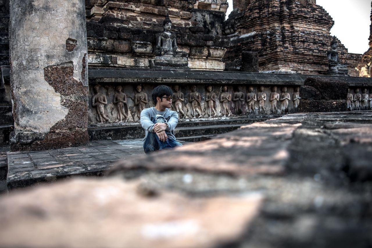 EyeEmNewHere History ThaiTemple Oldcapitalbuilding Onemanshow Thailand Historical Place Sukhothaihistoricalpark Sukhothai AncientCity