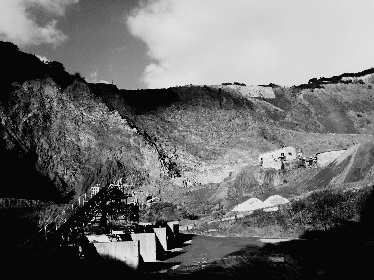 Quarry. Quarry Kagoshima Japan Black & White