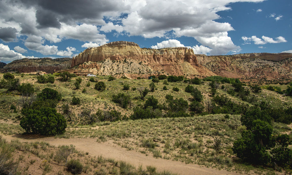 American Southwest Arid Climate Ghost Ranch  Landscape New Mexico New Mexico, USA Physical Geography Red Cliffs Rock Formation Sandstone Sandstone Cliffs Scenics Sky Tranquil Scene Travel
