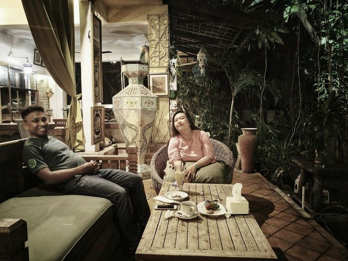 just2ofus Sitting Two People Table Adults Only Adult Cafe Tea - Hot Drink