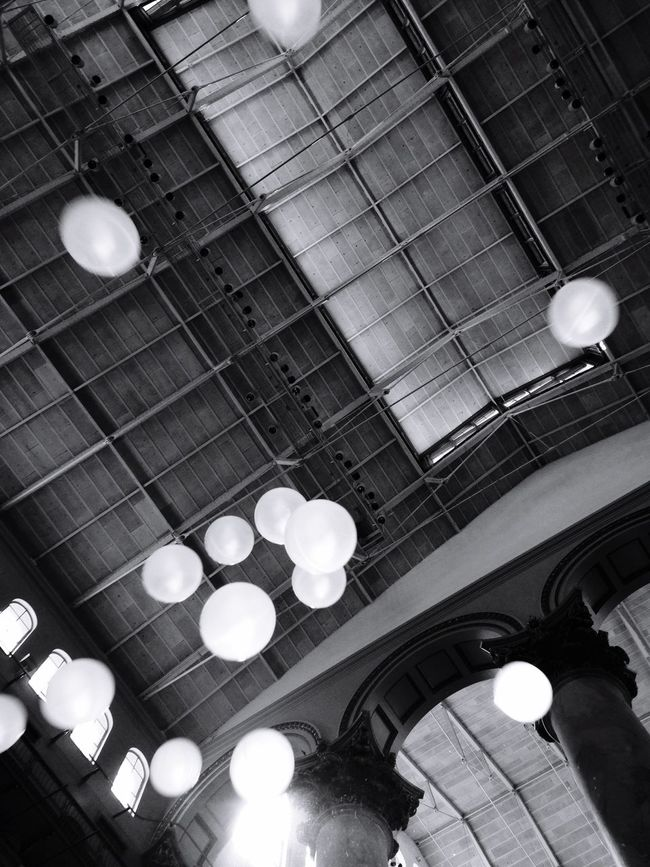 Life is a beach... Of plastic balls Lookup Arch Architecture Motion Plastic Balls Blackandwhite