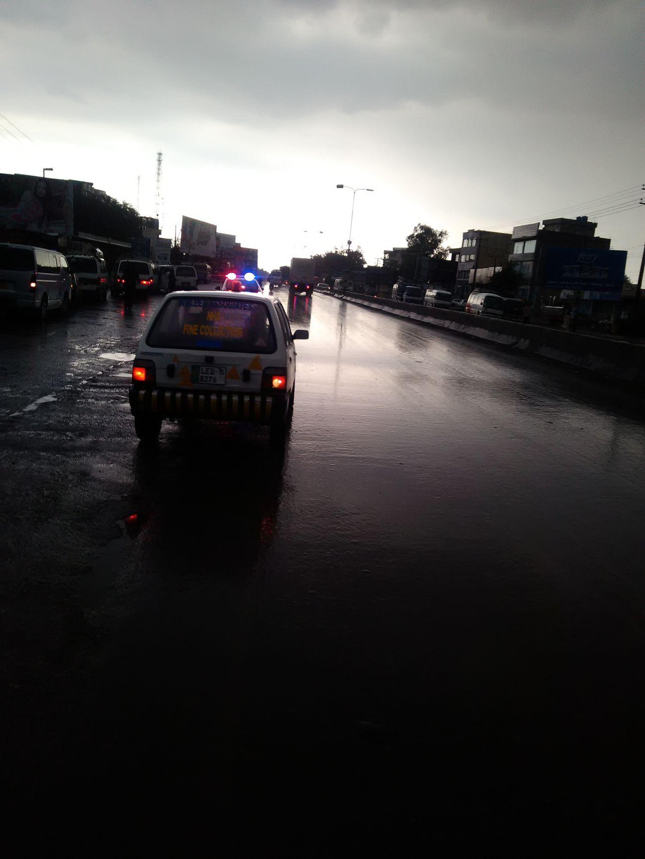 Morning Raining City Pakistan Romanitcweather Beauty In Nature Water Traffic Traffic Police  First Eyeem Photo