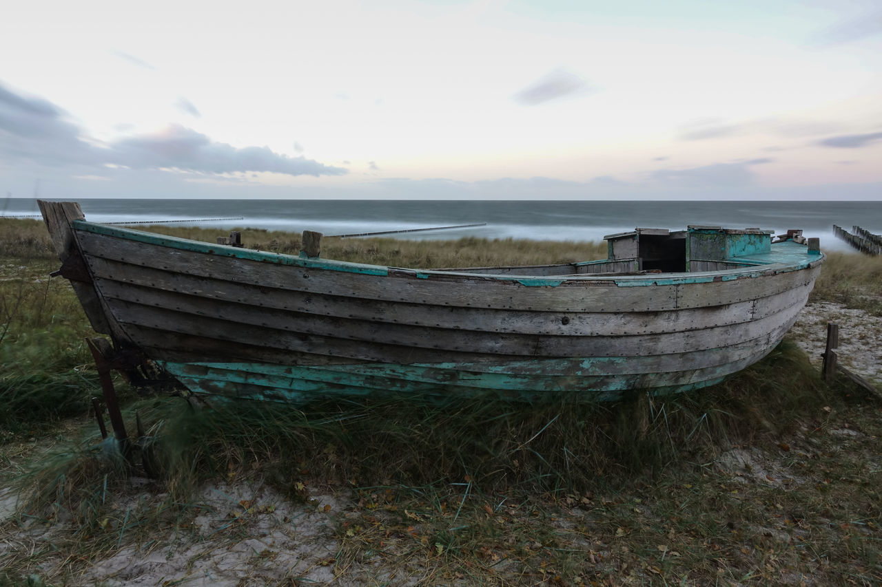 Boat at the Baltic Sea Baltic Sea Beach Boat Boot Horizon Over Water No People Ostsee Sky Strand Water
