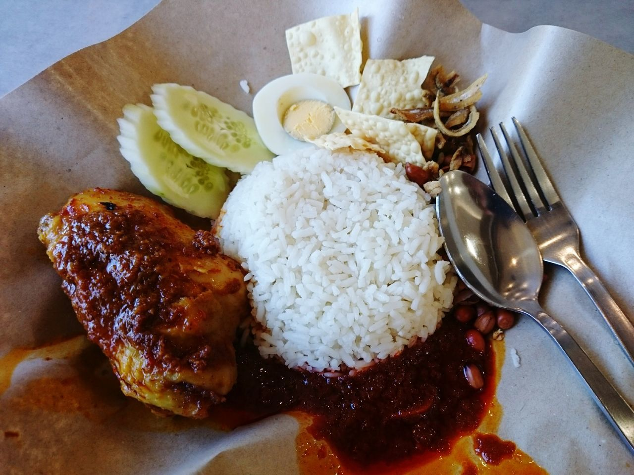 Nasi Lemak Rendang Ayam Food Food And Drink Freshness Healthy Eating Serving Size Plate Ready-to-eat Indoors  No People SLICE Table Healthy Lifestyle Close-up Day EyeEmNewHere Nasi Lemak Malaysian Food Malaysian Culture Malaysiatrulyasia Nasilemakrendang