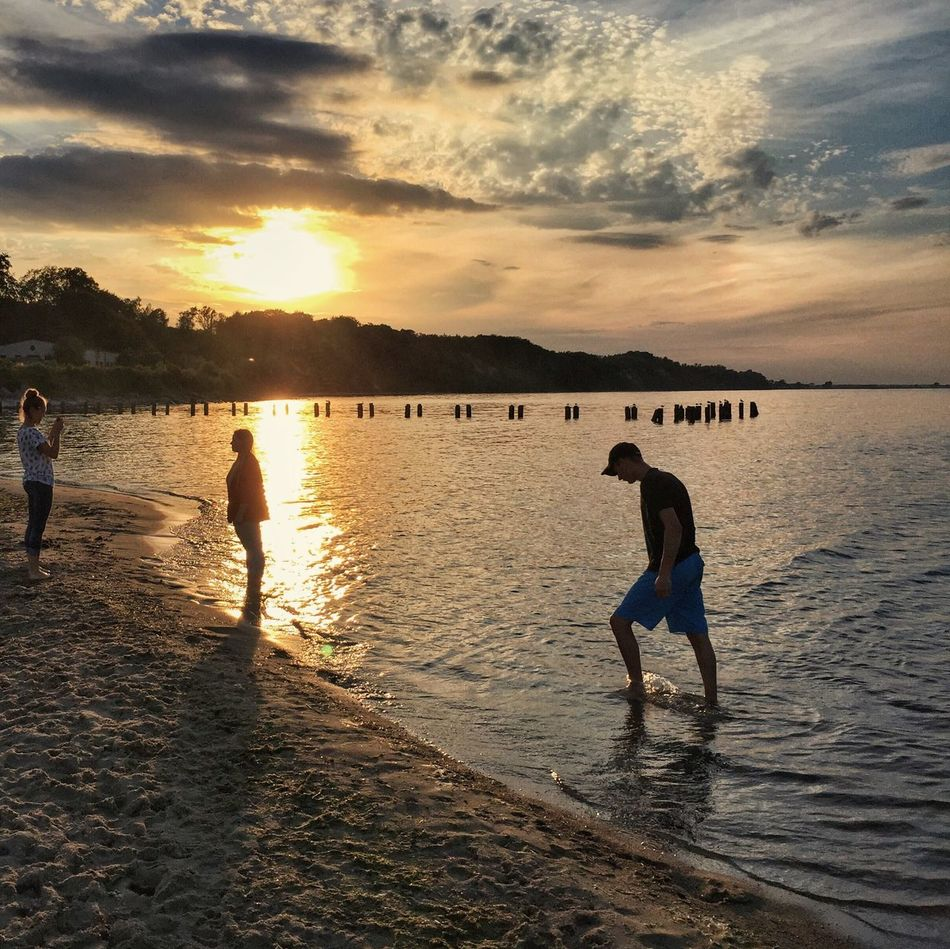 Serenity At The End Of Day - Gdynia 5 July 2016 ( IPhone 6+ ) Iphone 6 Plus IPhoneography EyeEmBestPics EyeEm Best Edits EyeEm Best Shots EyeEm Gallery EyeEm Master_shots Masterpiece Landscape_Collection Landscape Sunset Silhouettes Sunset_collection Sunset Streetphotography People Marine Sea Skyporn Colors Colours Gdynia Poland