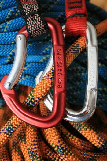 Carabiners Climbing Close-up Metal