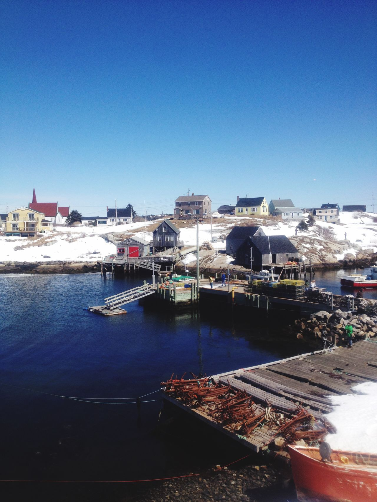 Peggy's cove in winter ❄️ Novascotia Peggyscove Peggysage Wintertime