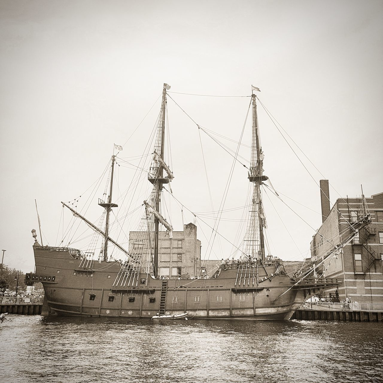 Architecture Boat Day Harbor No People Old Boat Outdoors Sail Boat Sky Tall Ships Transportation Water Wooden Boat