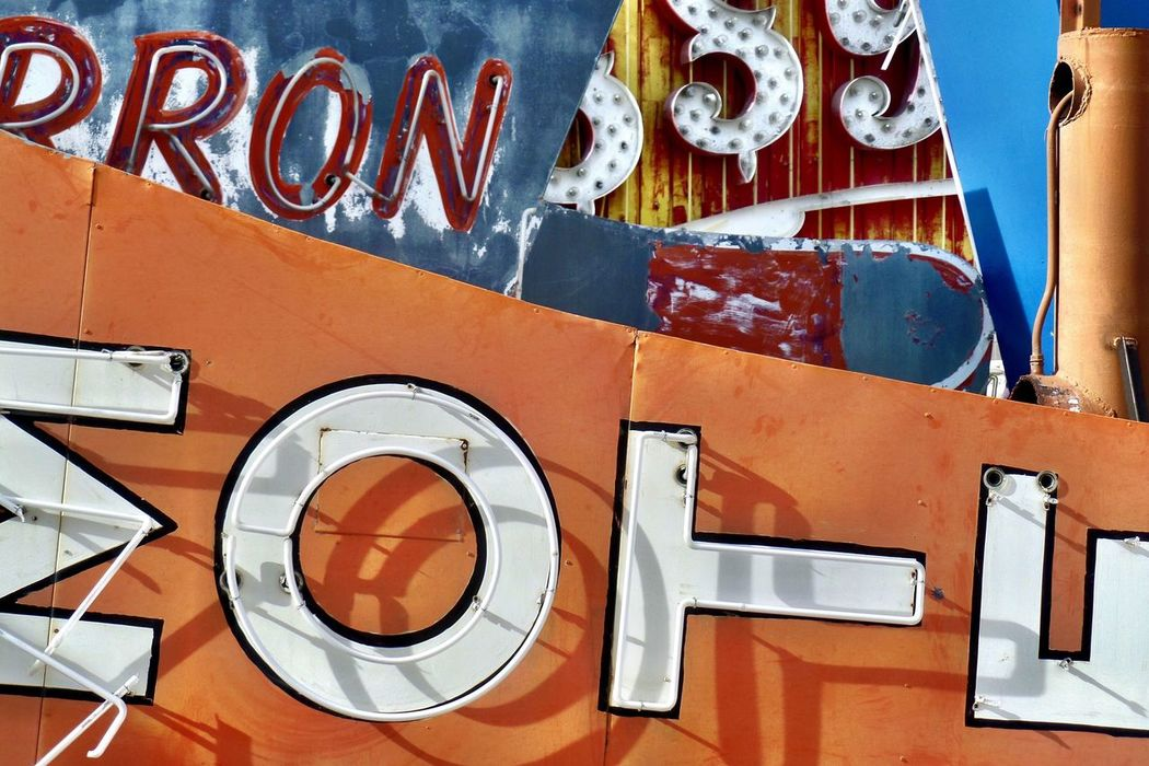 Red Outdoors No People Text Day Close-up Architecture Urban Lights Colors Neon Museum Las Vegas Signs Casino Neon