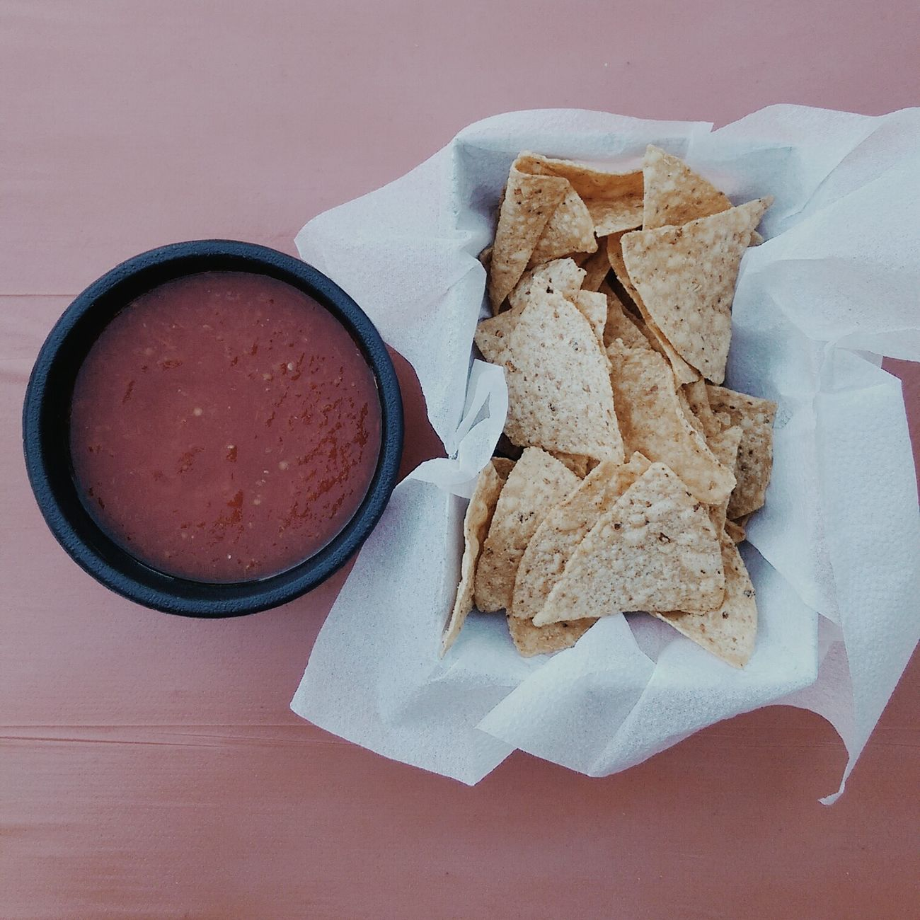 Food Chips And Dip Salsa