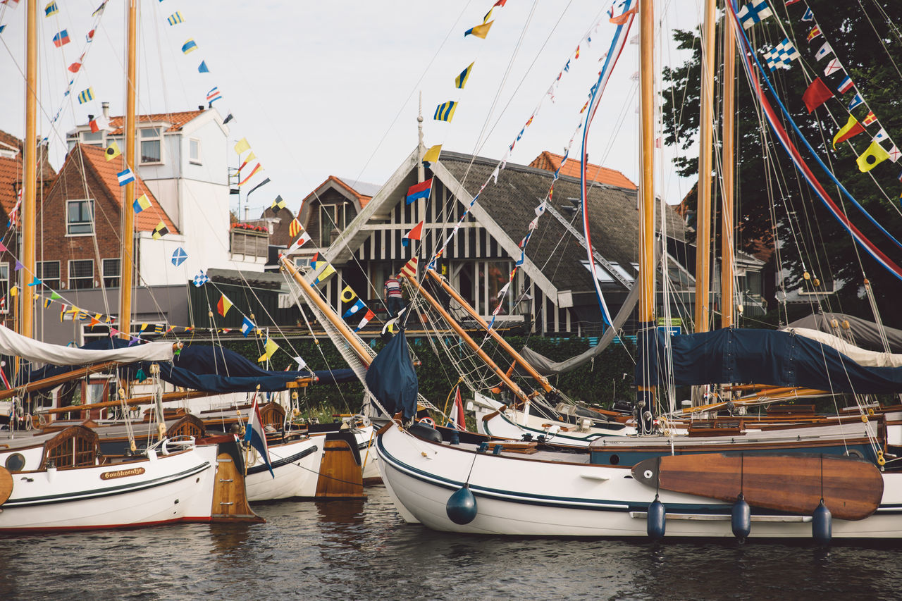 Architecture Haarlem Haarlemse Haarlemse Vaardagen 2017 Architecture Boat Boats Building Exterior Built Structure Canal Cruise Day Dutch Harbor Mast Mode Of Transport Moored Nature Nautical Vessel No People Outdoors River Sailboat Sea Ships Sky Spaarne Transportation Vaardagen Water