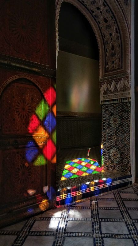 Travel Morocco Travel Destinations Wanderlust Marruecos Eyem 2016 La Medina De Marrakech Marrakech Palace Bahia Palace Medina Indoors  Colors Multi Colored Reflection Color Reflections