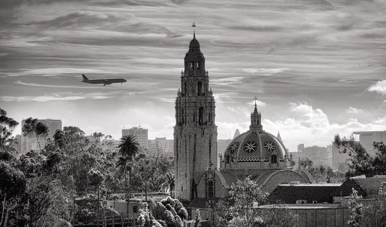 Balboa park Built Structure Architecture Building Exterior No People Outdoors City Sky Tree Day Clock Tower Animal Themes Clock Balboa Park San Diego