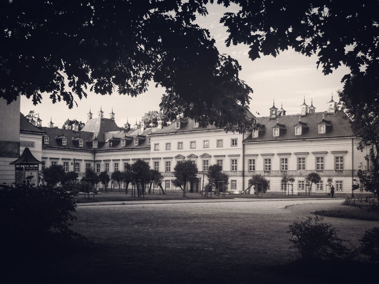 Schloss Pillnitz (A beautiful castle in eastern Saxony) - MAinLoveWithCreation ADMIRING Man Made Castle Man Made Beauty Beautiful Castles Beautiful Castle Beautiful Castles In Europe Vintage Monochrome Black And White Black & White Bnw Bnw_collection Bnw_captures Bnw Photography Architecture Architecture_collection Building Buildings Hidden Behind Trees How I Feel At Times How I See Things How I See The World