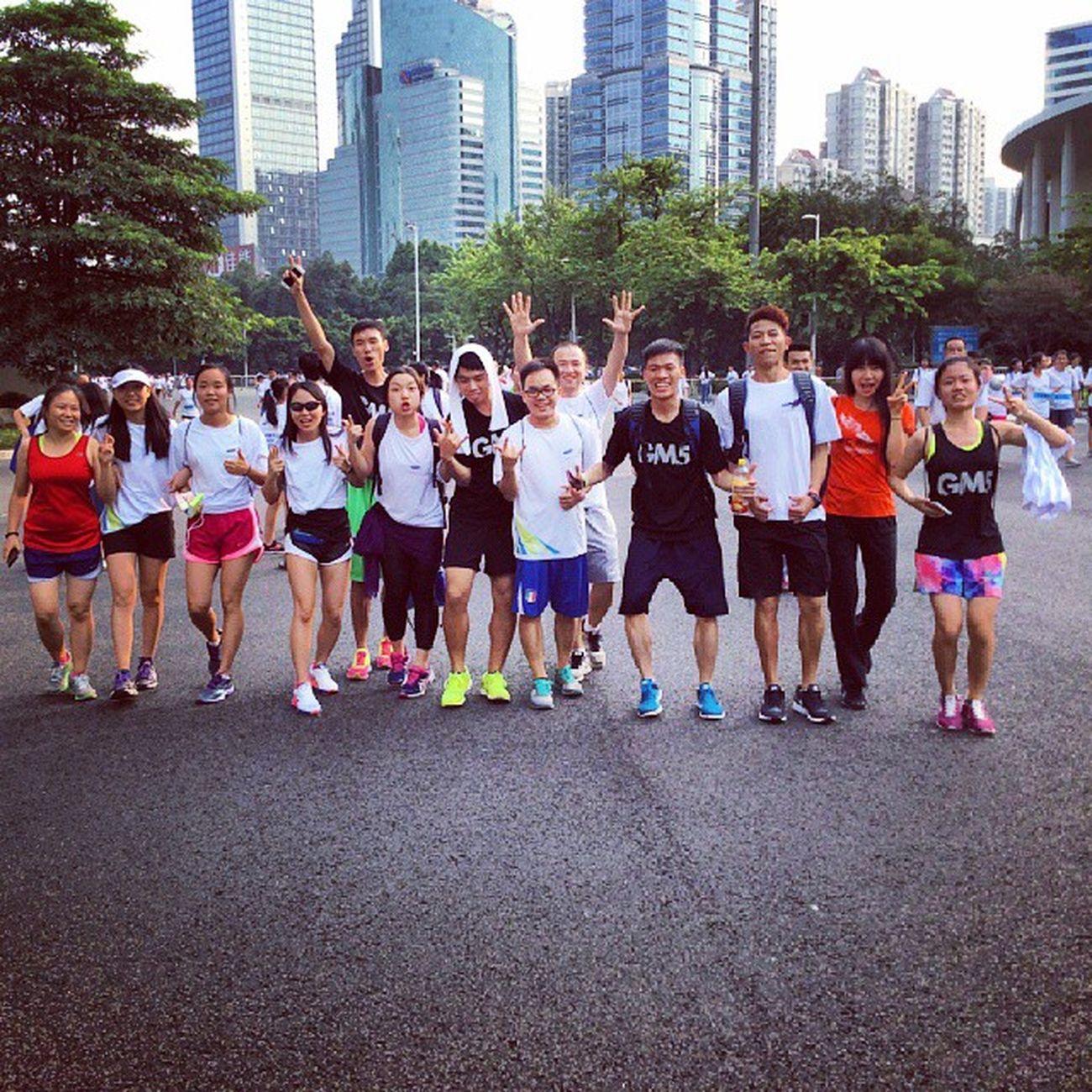 成team人去三星跑步活动🚶 散步 ?