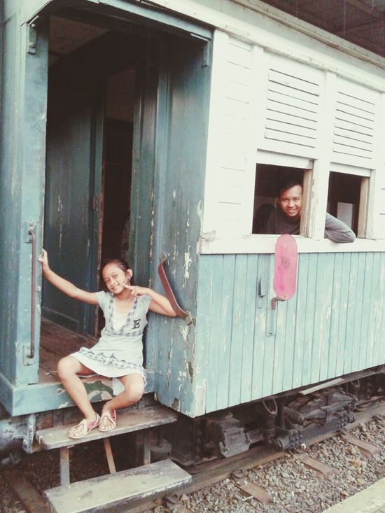 Taman Mini Indonesia Indah That's Me Hello World Relaxing Me And My Baby Girl 'tycJa ♥ Family❤ EyeEm Best Shots Visiting Museum Everyday Education Old Locomotive