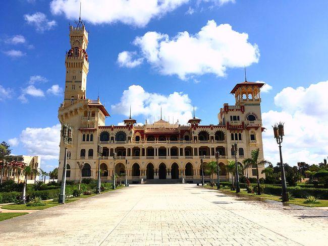 Culture Cloud - Sky History Day Famous Place Travel Destinations Architecture Building Exterior IPhoneography Alexandria Egypt Castle Royal Montzah