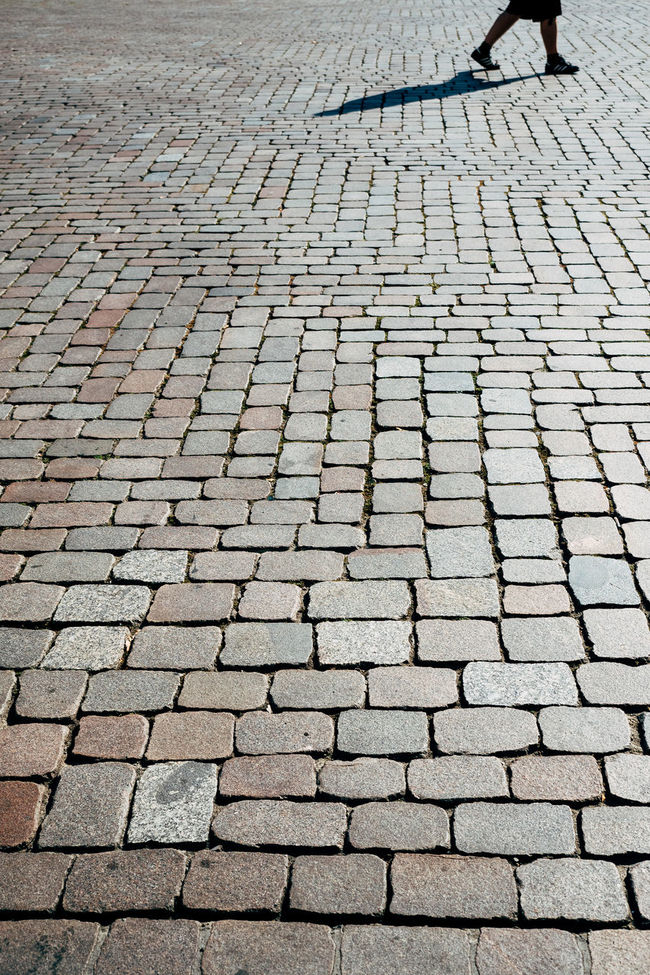 simple shadow Cobblestone Day Footpath Full Frame Outdoors Paving Stone Pedestrian Walkway Shadow Stone Material Street Streetphotography Surface Level
