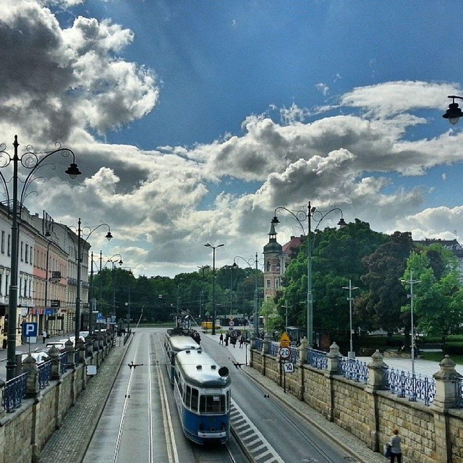 Krakow Sunny Tram HDR Beautiful