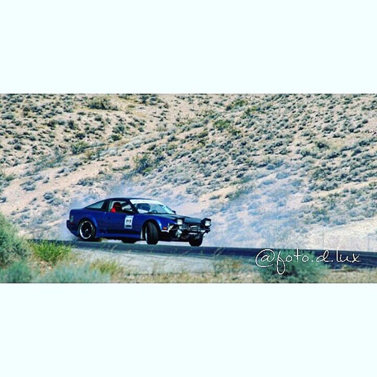 Landscape and car drifting on point. Tag owner of car Nissan 240sx 240 Topdrift Topdriftlimited Blue240sx Tireslayer Driftingaway Formuladrift Instalike Instadaily Willowsprings