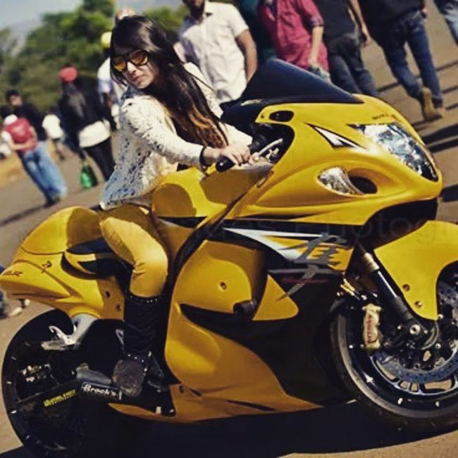 Sunday Special BUSA Sexy Yellow Beauty Lady Lonavla Ambay Valley Drag 2015  Click Cleo Fernandes Professional Picofthe 2015  Likesforlikes