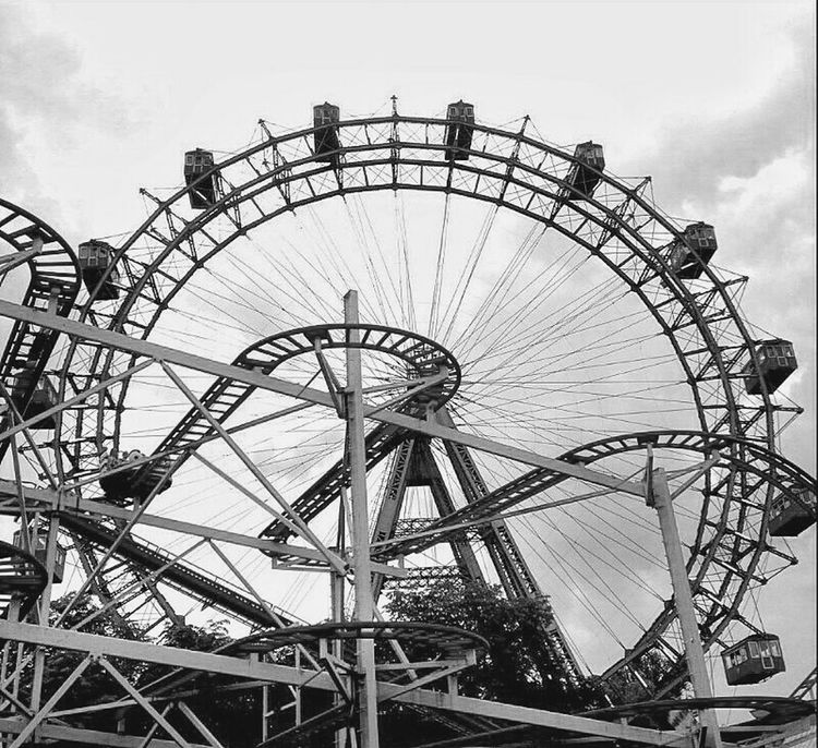 Blackandwhite Throw A Curve Bnw Ferris Wheel Amazing Architecture What Goes Around Comes Around  Rollercoaster Urban Geometry VIENNACALLING My Smartphone Life