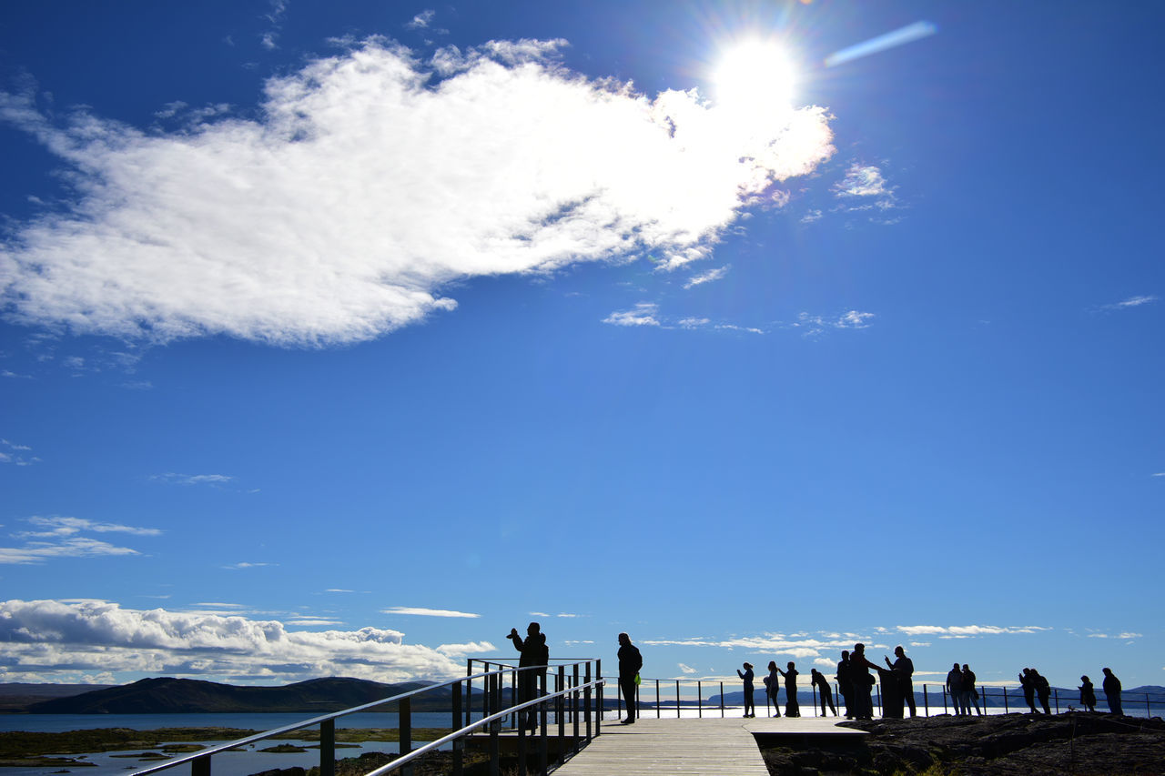 Þingvellir, National Park Adult Adults Only Archival Blue Clear Sky Cloud - Sky Day Destination History Iceland Landmark National Park Nature Outdoors People Sky Sky And Clouds Thingvellir National Park Tourist Attraction  Tranquility
