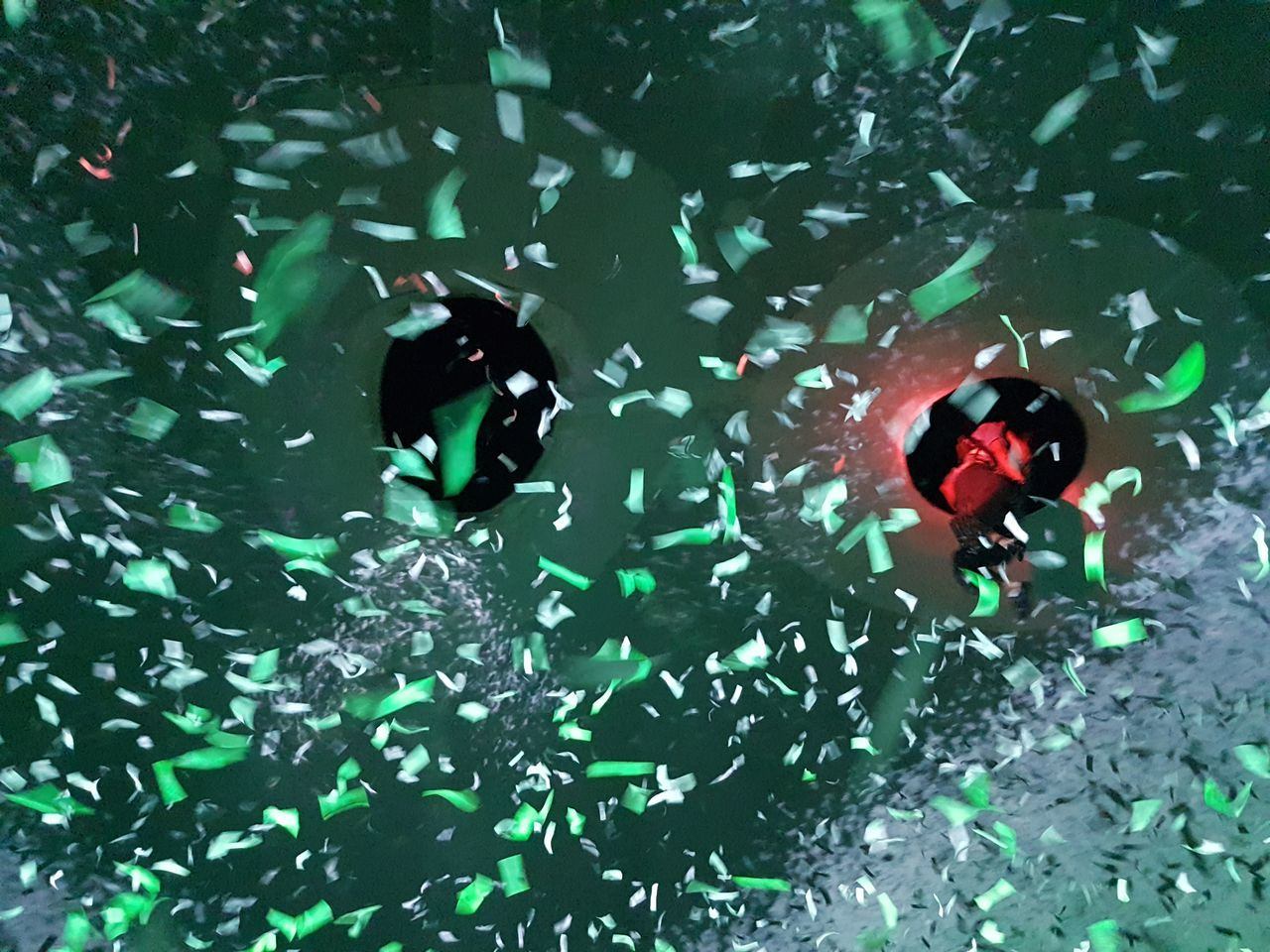 Confetti Green Lights Colour Excitement Layers Sprinkle