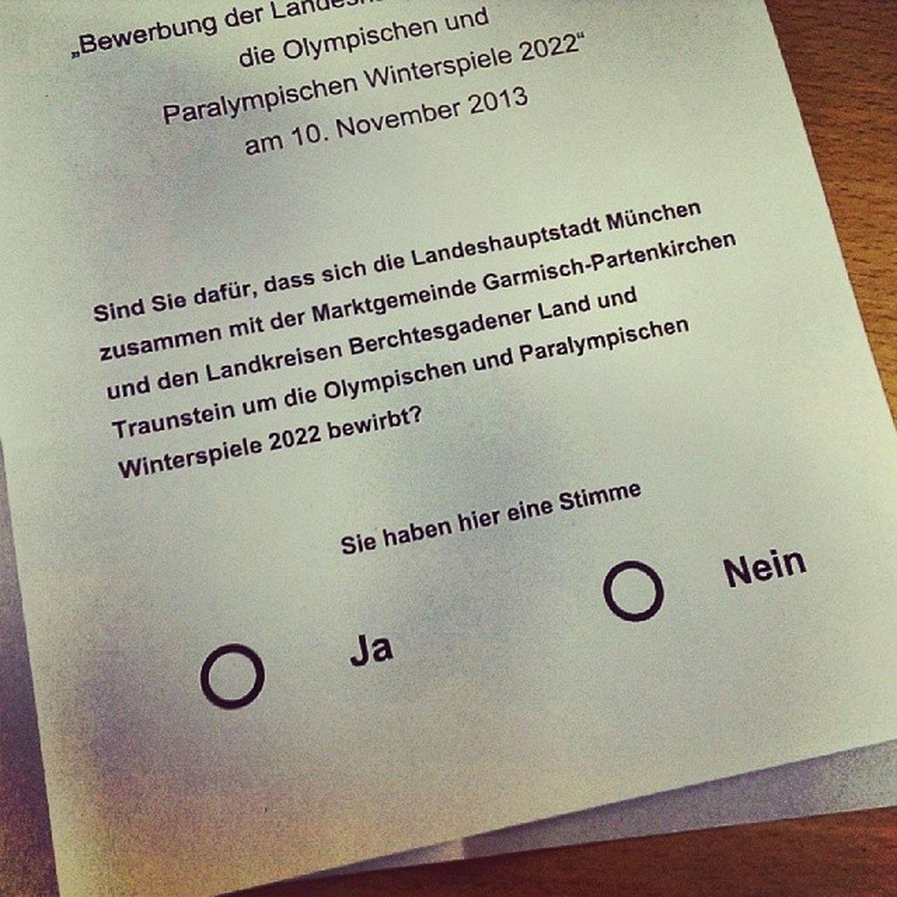 Es ist ein Kreuz mit der Demokratie. #OlympJa #OlympNo #München2022 Olympja München2022 Olympno
