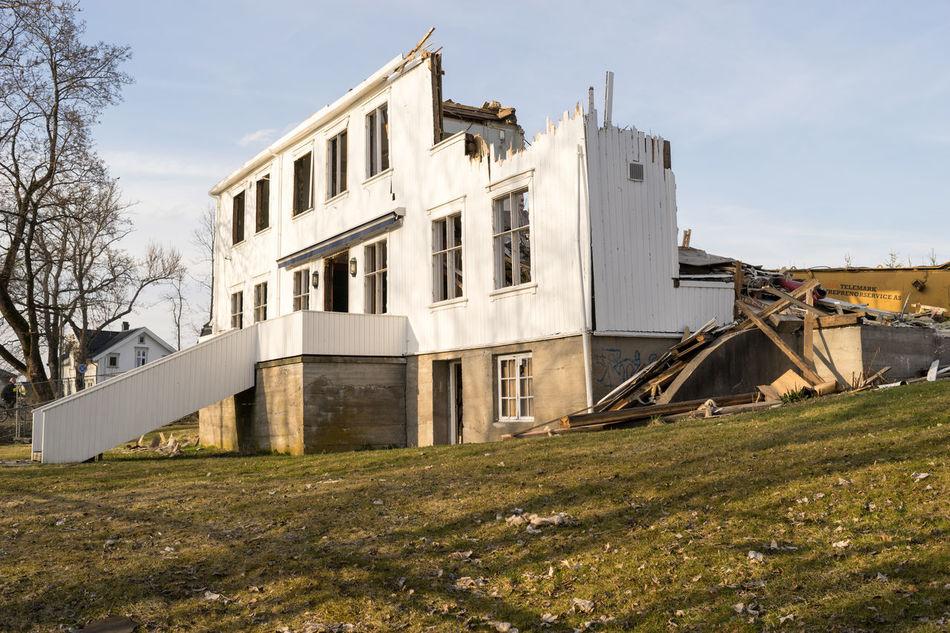 Good bye old student party house Demolished Demolition Elverhøy Norway Norway🇳🇴 Porsgrunn Student House Telemark The Secret Spaces