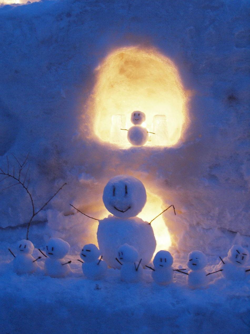 winter festival in Otaru 'Yuki akari no michi' (Otaru Snow Light Path) Candle Light Lights Otaru Snow Snow Candles Snowlight Snowman Winter Yukiakari