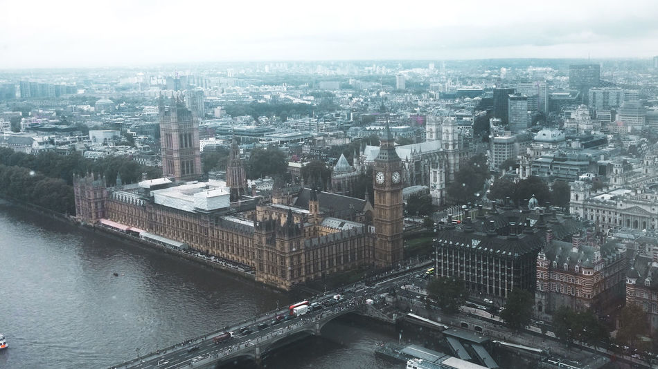 City Water Sky Day Bridge Buildingstyles Big Ben London Tamiza LondonEye Big City Life