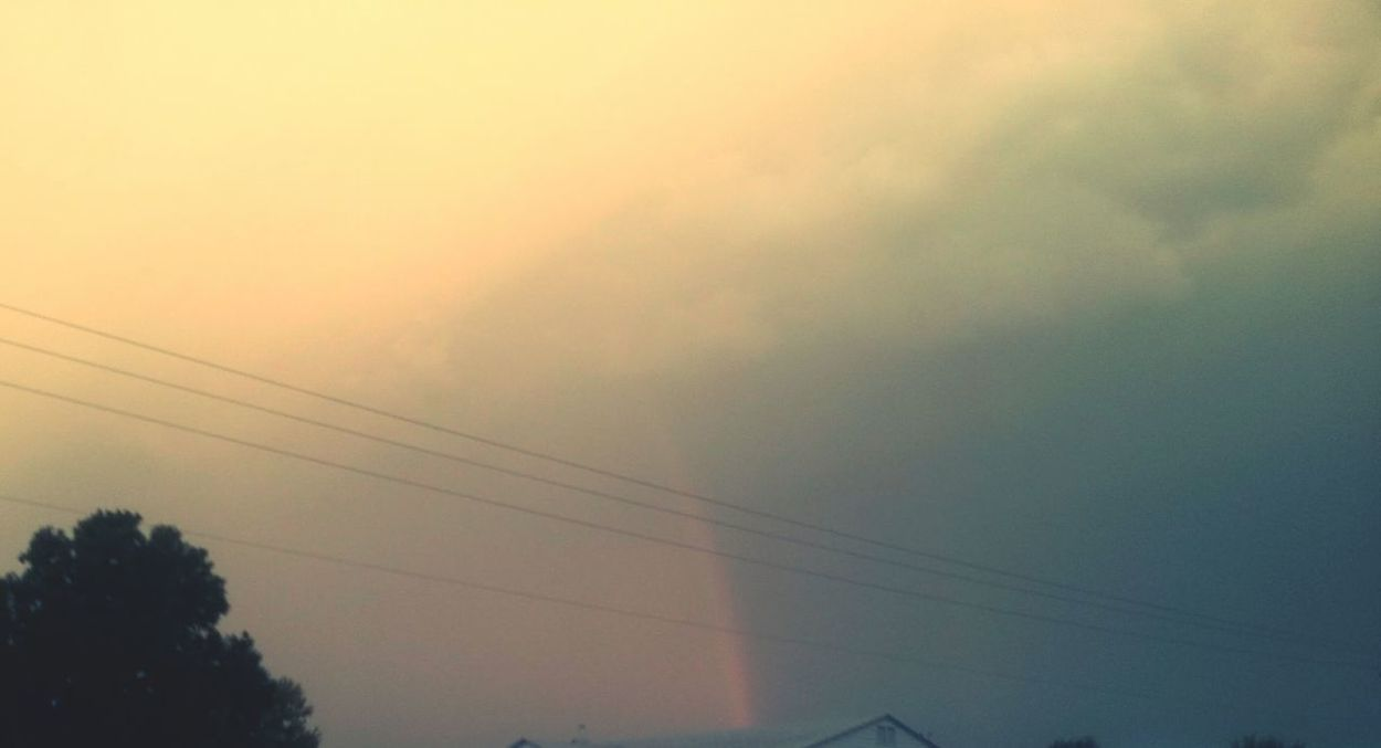 Cable No People Tree Outdoors Nature Sky Telephone Line Electricity Pylon Day Beauty In Nature Vapor Trail Rainbows Rainbow🌈 Rainbow Colors Rainbow Clouds Rainbowcolors Rainbowsky Rainbow Sky Rainbow Freshness Beauty In Nature Nature Shadow USAphoto The Way Forward