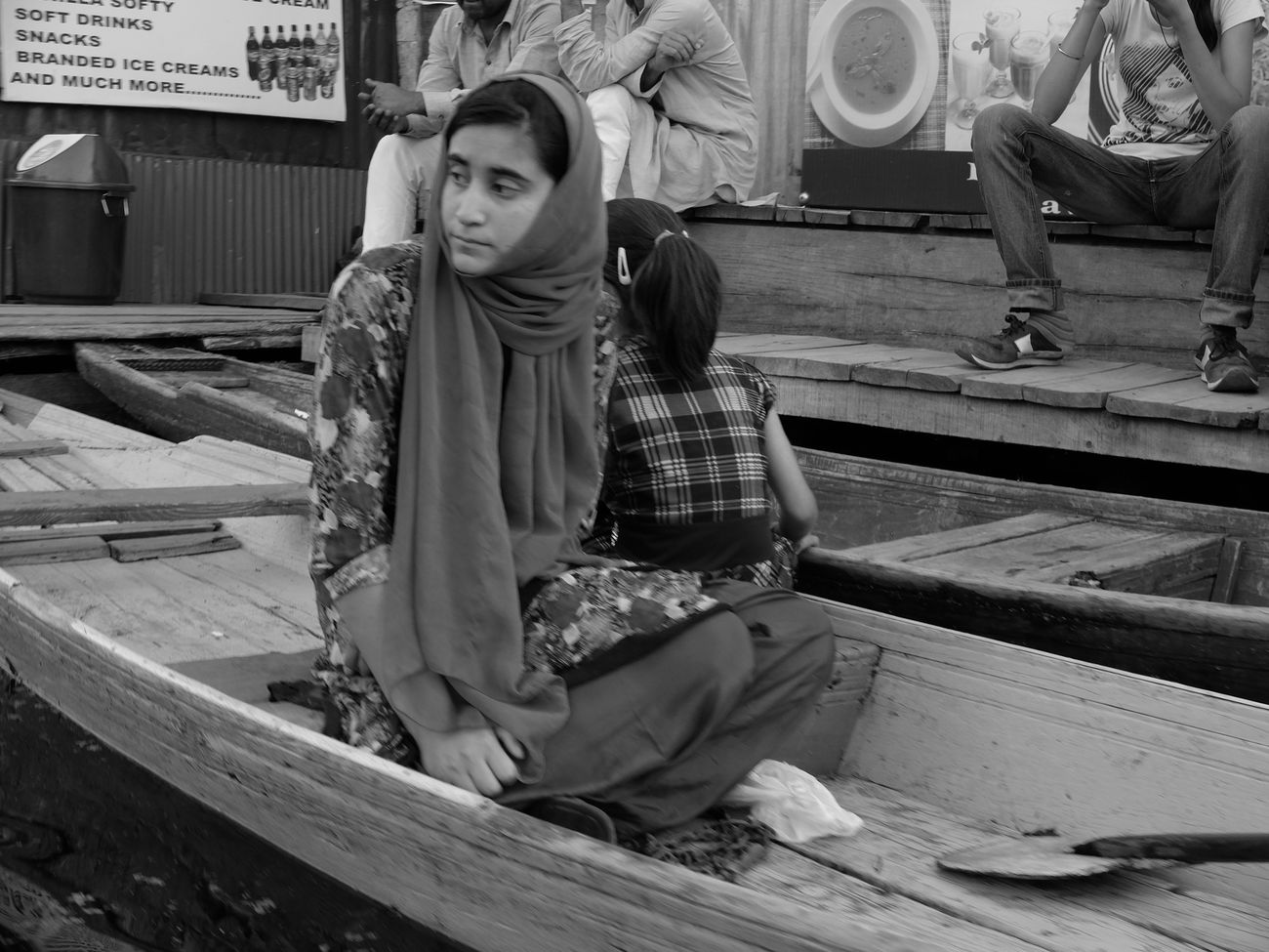 Adult Archival Day Full Length One Person Outdoors People Religion Shawl Sitting Social Issues Srinagar Kashmir