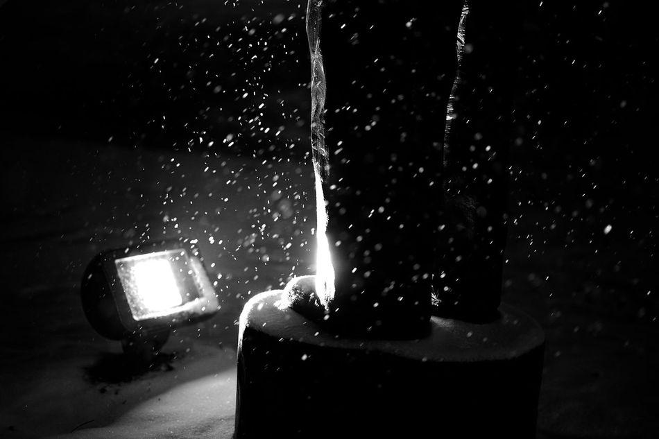 snow covered statue Black And White Close-up Cold Evenign Evening Frigid Illuminated Man Monochrome Park Reflection S Sky Statue Statur