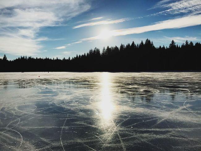 EyeEmNewHere Frozen Lake Ice Winter Ice Rink